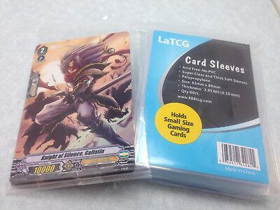 60 Latcg Sleeves   Cardfight Vanguard Promo Pack W  Knight Of Silence  Gallatin