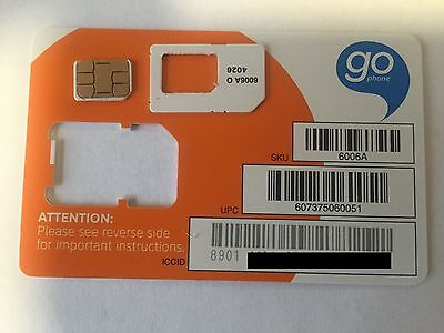 NEW Factory Nano SIM Card  5 / 6 / 6+/  s6 / S7, Note 5 AT&T 4G LTE Factory Cut