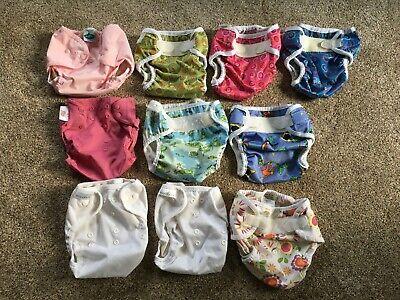 Lot of 10 medium diaper covers - Bummis, Tiny Tush, Flip, Thirsties, & Econobum