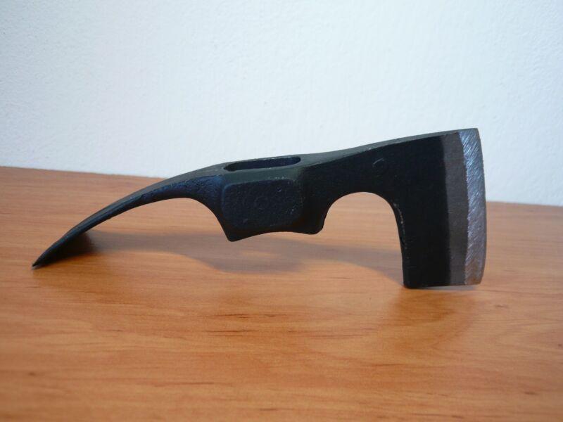STEEL COMBINED AX AXE ADZE HAMER PICK MATTOCK CAMPING TOOL HIKING HUNTING HEAD