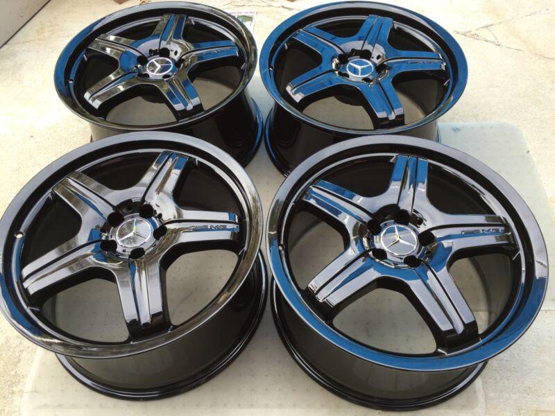 """20"""" New Powder Coated Black Oem Original Amg Ml63 Ml55 Ml550 Ml500 Gl550 Wheels"""