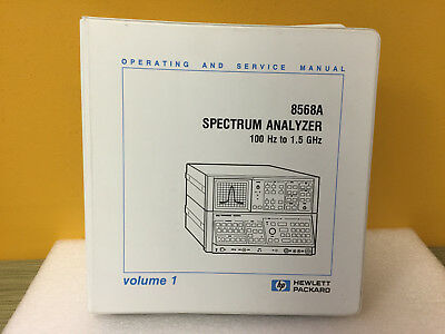 Hp Agilent 08568-90012 8568a Analyzer Operating Service Manual Volume 1