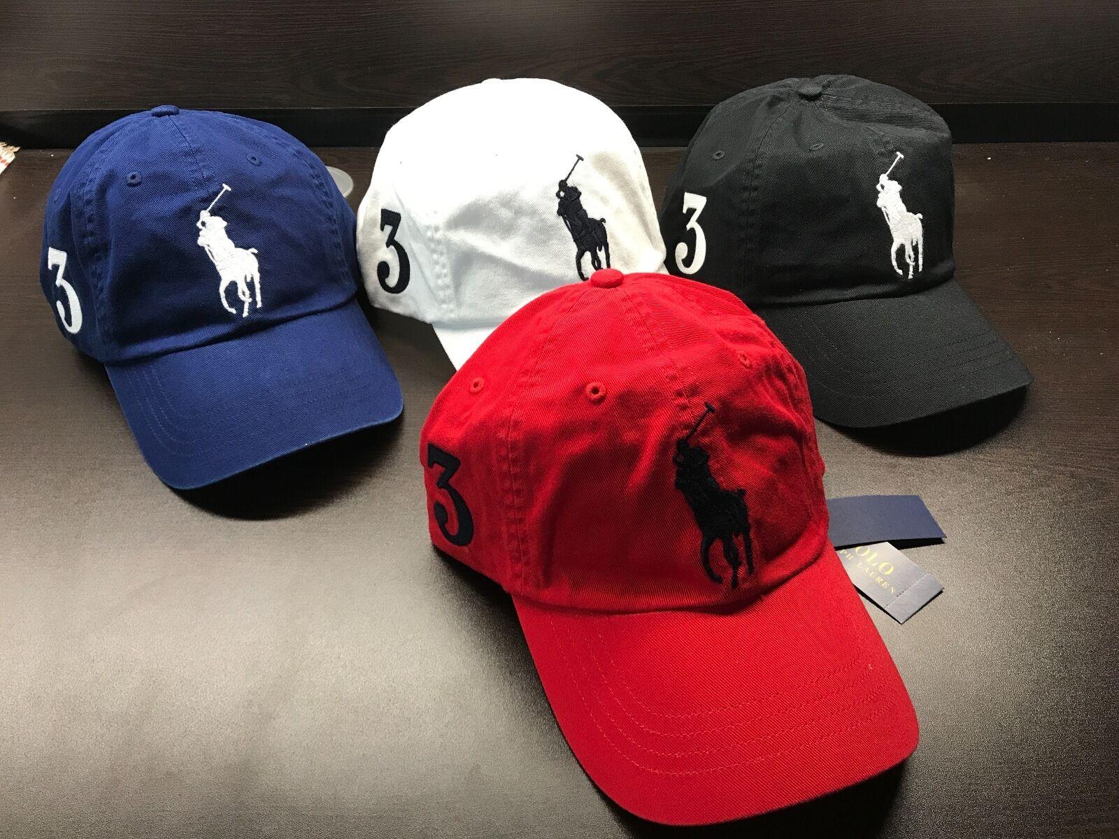 NEW Polo Ralph Lauren Baseball Cap Hat Big Pony Adjustable L