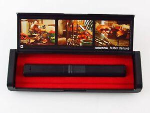Rowenta Butler Deluxe Stabfeuerzeug schwarz mit Etui neu Feuerzeug