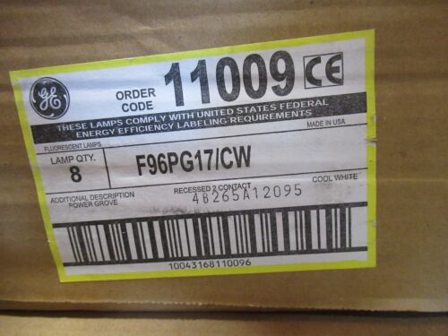 Case of 8 GE F96PG17 CW Power Groove Fluorescent Tubes 11009