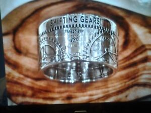 Hand made custom silver coin rings