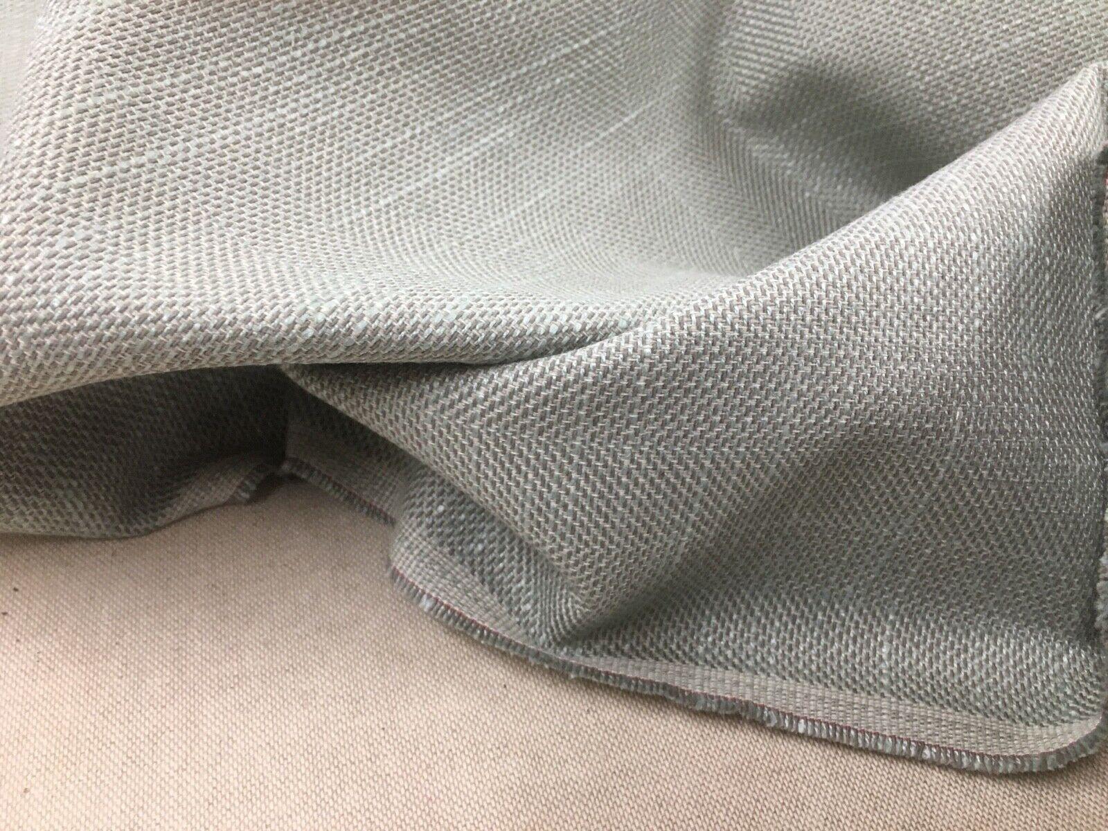 Scandi Twill Linen Sea Spray Blue Green Upholstery Fabric 140cm wide