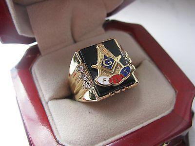 Supeb NEW! Mens Odd Fellows and Masons Crest Ring *