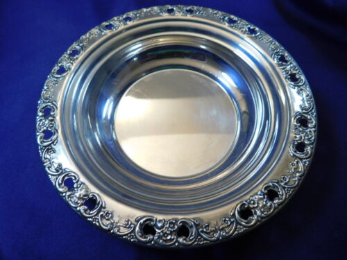 REED & BARTON FLORENTINE LACE STERLING SILVER CANDY/TRINKET DISH #785 - M
