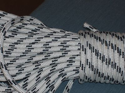 """Double Braid Polyester 3/8""""x 100 feet roofers ladder lift rope  halyard line"""