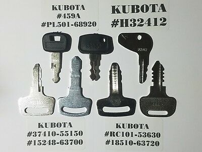 7 Kubota Key Set Kubota Heavy Equipment Tractor Ignition Key Set