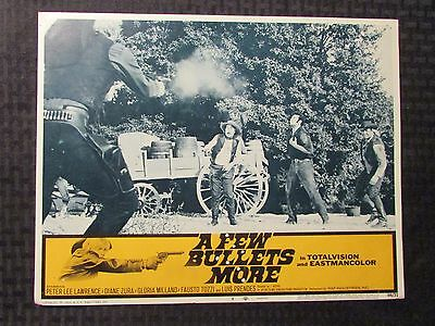 "1969 A FEW BULLETS MORE Original 14x11"" Lobby Card #4 VG 4.0 Peter Lee Lawrence"