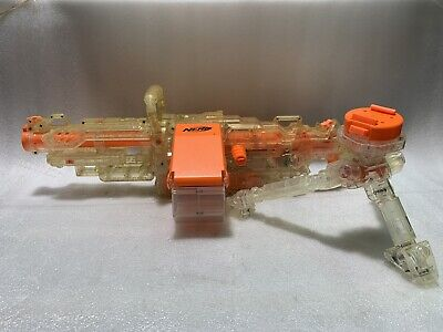 Nerf Vulcan EBF-25 Clear Battery Powered Dart Blaster - Box, Gun, Tripod