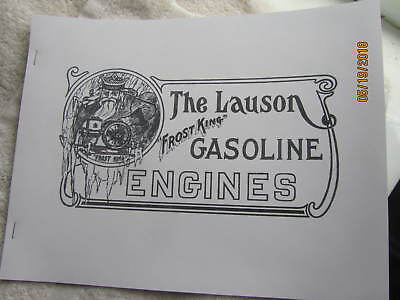 1913 John Lauson Manufacturing Frost King Gas Engine Catalog  All Sizes
