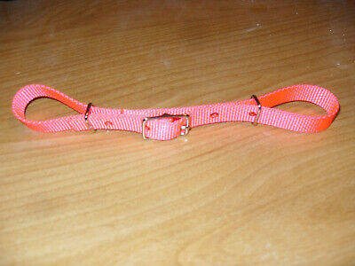 "BioThane Nylon Curb Strap Berlin Custom Horse Tack Headstall Pink Web Beta 5//8/"""