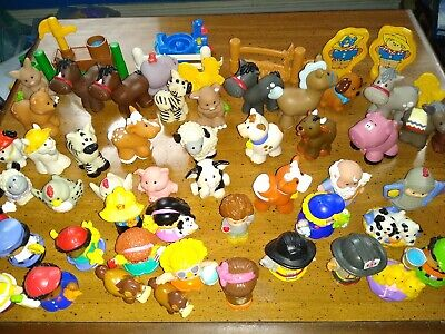 Fisher Price Little People Lot Of 50  Animals boy girl cow monkey horse & more