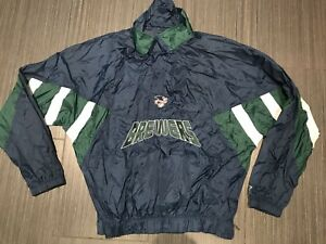 Vintage Starter Milwaukee Brewers Pullover Baseball Jacket