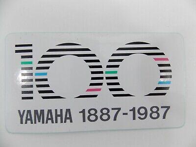 YAMAHA VINTAGE 1987 100 Year Centennial Dealer Door Decal Sticker RARE UNUSED