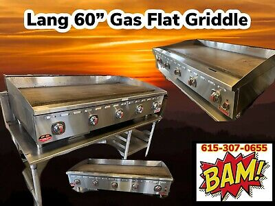 Lang Natural Gas 60 Griddle- Used 1 Month In A Test Kitchen- 5ft Grill Wstand