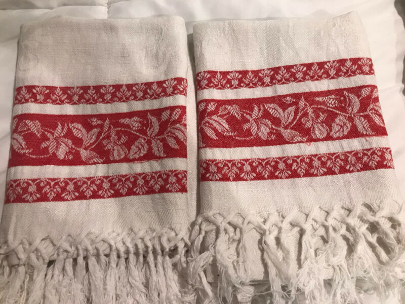 2 Antique Linen Towels