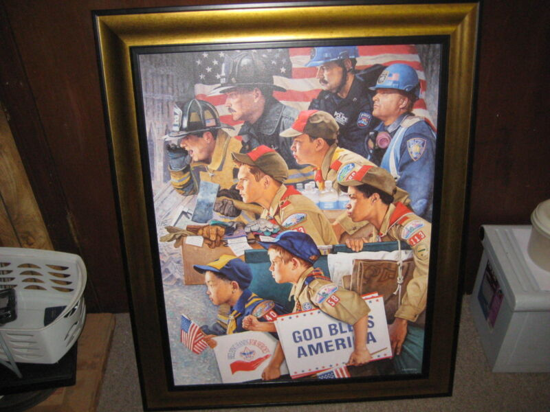 Prepared to Do A Good Turn Joe Csatari Boy Scout Painting for Sept. 11