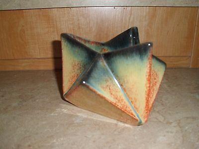 "Vintage Muncie Pottery Reuben Haley Designs Rombic ""Star"" Vase"