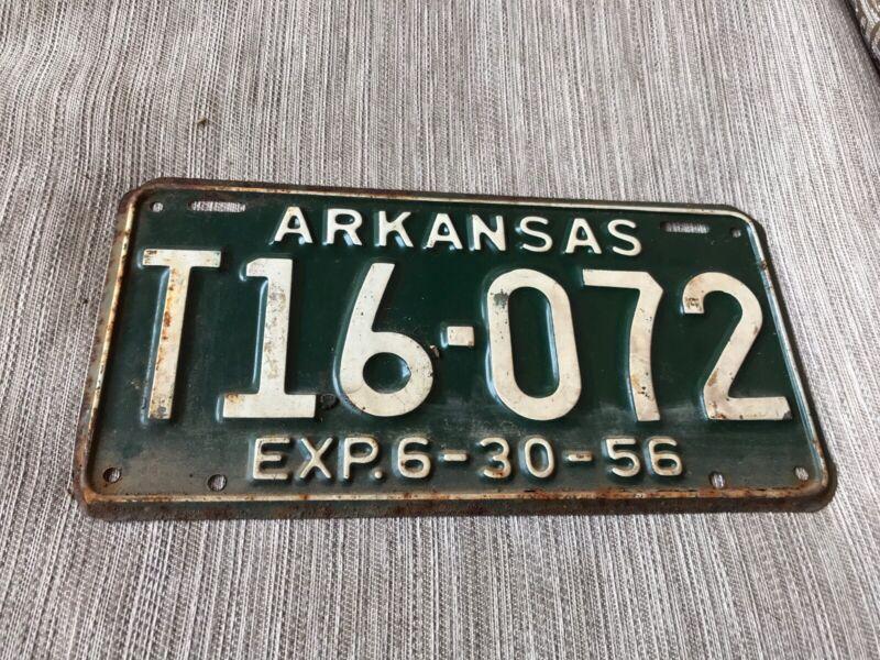1956 Arkansas License Plate T 16072