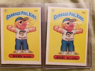 ~DIE CUT ERROR~1986 Garbage Pail Kid Cards #84a/b Joe Blow(ERROR)/Rod Wad. MINT , used for sale  Toledo