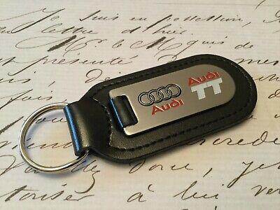 Audi Tt Llavero Grabado y Relleno en Cuero