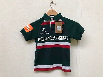 - Leicester Tigers Kukri Rugby Kid's Classic Home Jersey - Small Youth - New