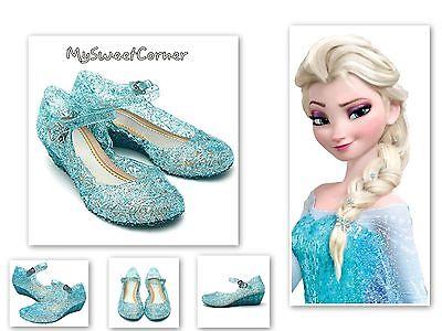 Frozen Eiskönigin Schuhe Blau Kostüm Anna Elsa Sandalen 28-29 Schneeflocke