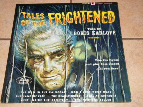 Vintage 1963 TALES OF THE FRIGHTENED LP Vinyl Record Rare BORIS KARLOFF Dracula