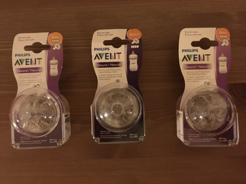 3 2pk Avent Natural Nipples 6+months