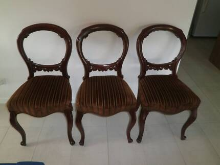 3 antique style dining chairs $50 each