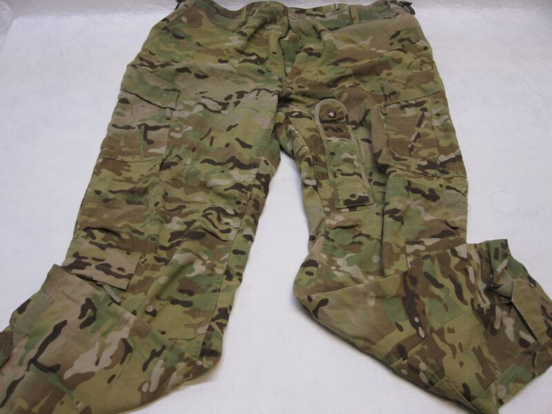 USED ARMY OCP AIRCREW TROUSER A2CU AVIATION FUELER PANTS MULTICAM LARGE/LONG