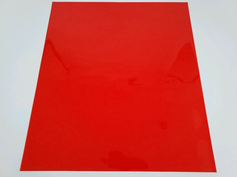 """RED Color Gel Sheet Filter for Photo Theater Stage Party Lights apprx 21""""x24"""""""
