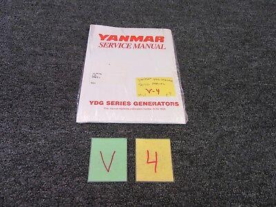 Yanmar Diesel Engine Ydg Series Generators Technical Service Manual Motor New