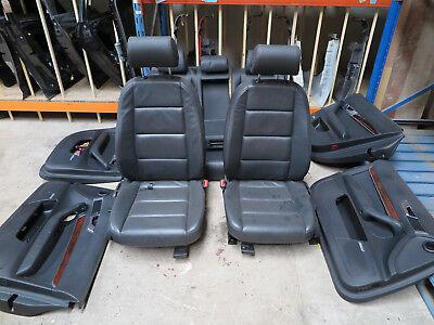 06-08 AUDI A6 C6 ESTATE COMPLETE FRONT & REAR BLACK LEATHER SEATS & DOOR CARDS