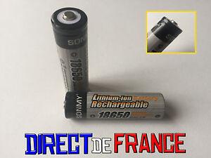 2 piles accus rechargeable batterie 18650 li ion 3 7v. Black Bedroom Furniture Sets. Home Design Ideas