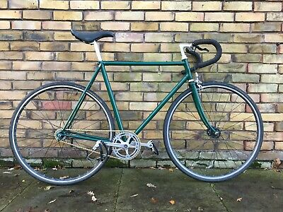 60cm racing green fixed gear bike with high spec components.