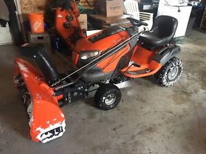 Husqvarna ride on tractor with snowblower