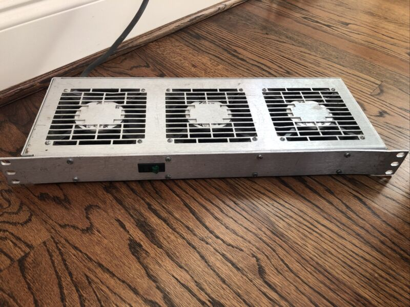 "Unbranded Server Rack Fan Pack Cooling Fan for 19"" Rackmount TESTED WORKING"