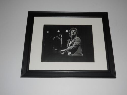 """Framed Billy Joel 1977 at the piano on stage poster 14""""x17"""""""