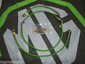 MGF MG F Fully Stainless Steel Braided Brake Line Hose Kit Xpower Green