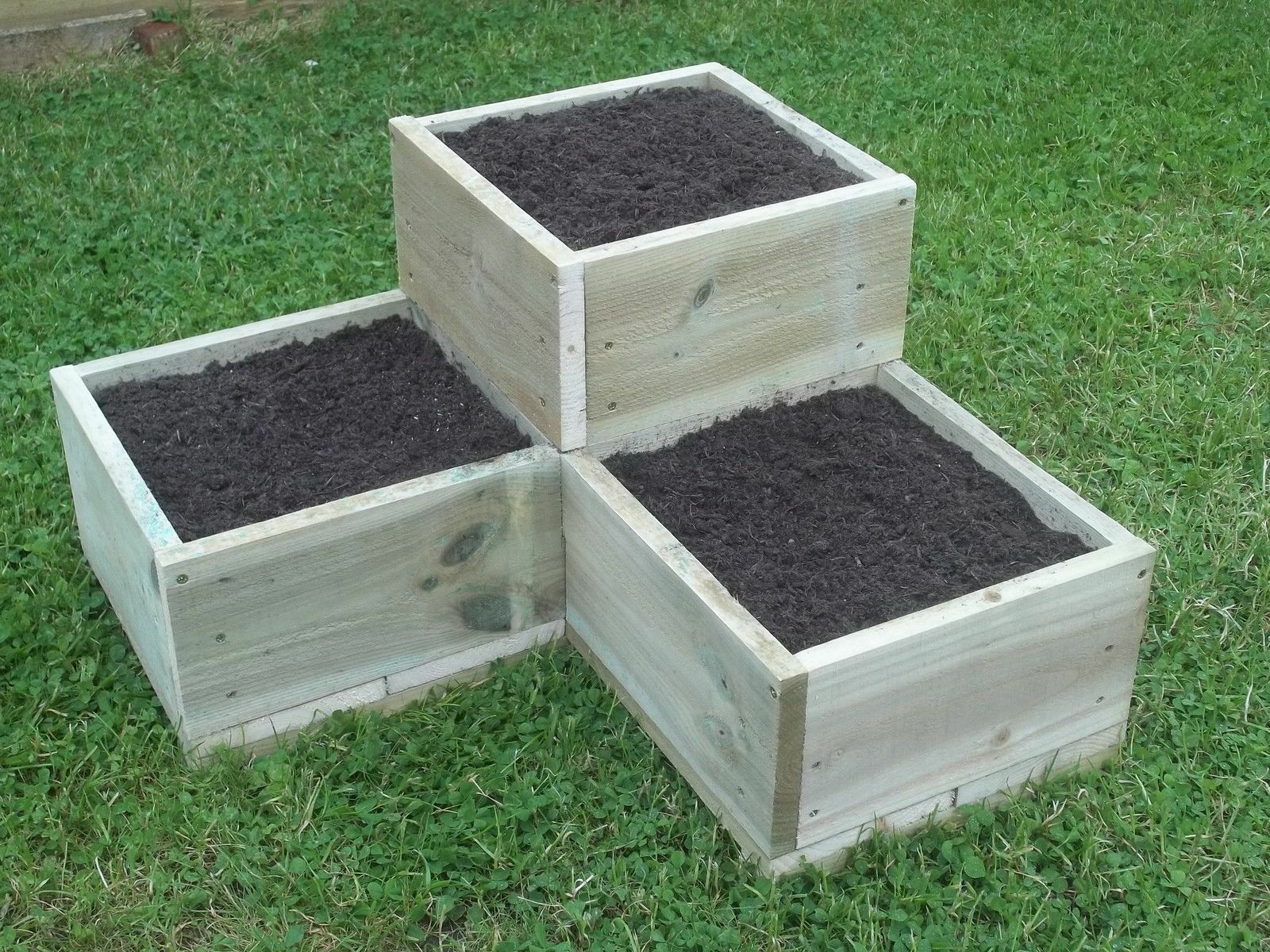 How to build a tiered garden box ebay for Garden box landscape and design