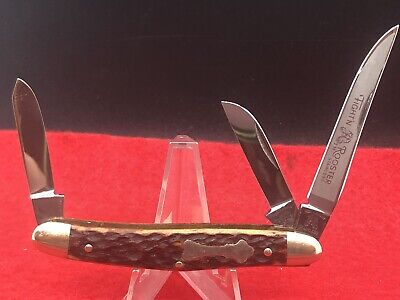 Frank Buster Fighting Rooster Bone Handle Stockman