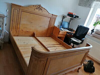 Lit à baldaquin baroque bois fait à la main août de forte antiquité maison