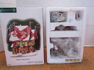 Dept 56 North Pole 2007 Reindeer Flying Feed Store  799919  NIB  - Reindeer Feed