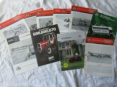 Massey Ferguson Farm Equipment Tractor Brochure Lot Of 10