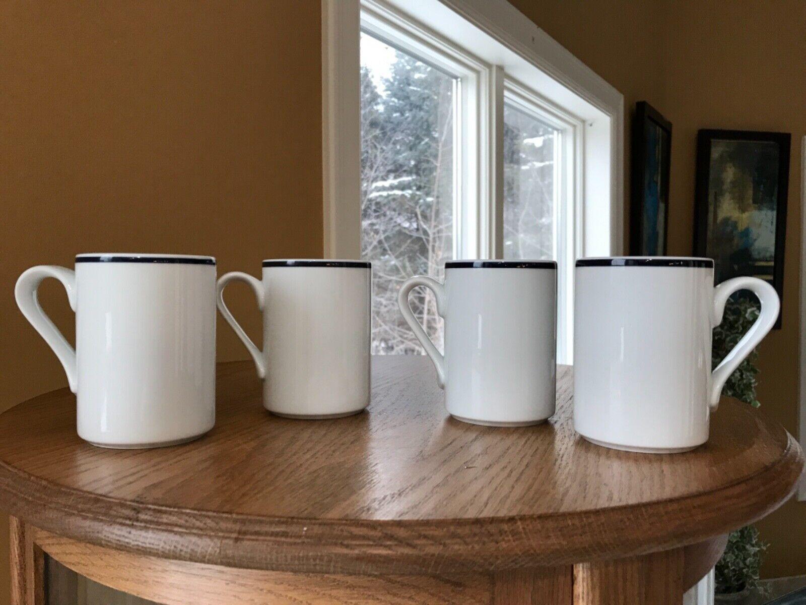 4 DANSK Bistro International Design Coffee Mug/Cup Christianshavn Blue Portugal - $24.00